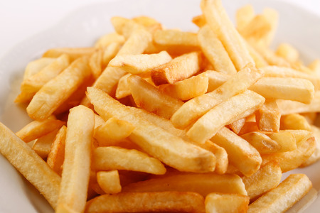 french fries plate: Close-up of a plate of french fries