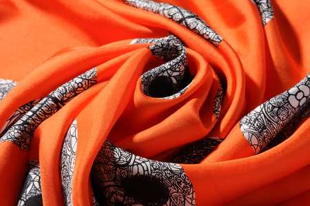 outerwear: Silk scarf Archivio Fotografico