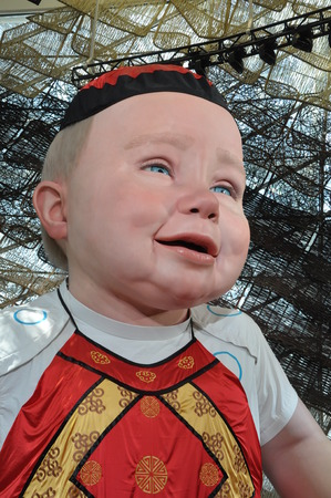 the world expo: Giant baby in the Shanghai World Expo Editorial