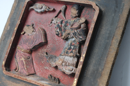 wood carvings: Close up to wood carvings frame