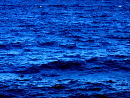 Small waves on the blue sea