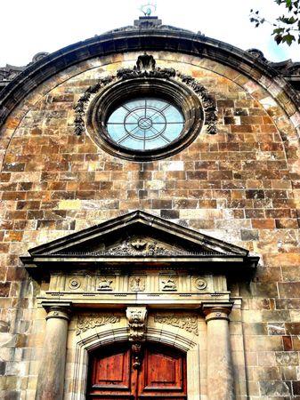 An ancient church in a small town