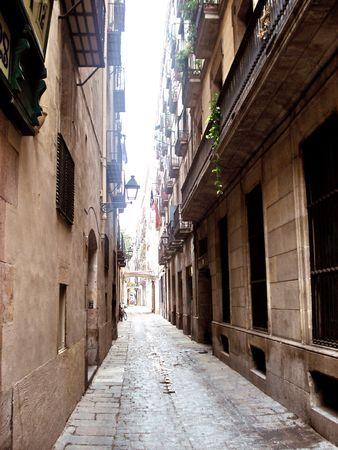 Quiet street on a hot summer day