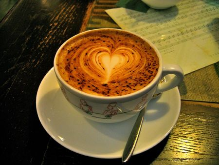 Morning cup of coffee before a difficult day