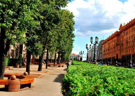 Urban Boulevard quiet summer day photo
