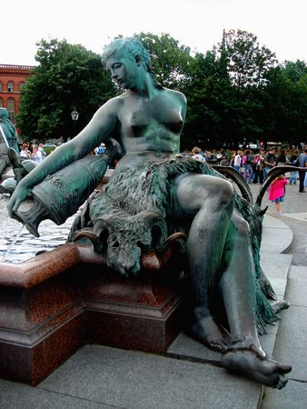 Fountain in the form of a naked woman with a jug