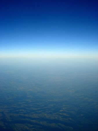 View of earth from a birds eye