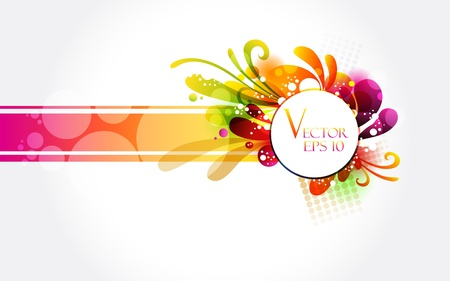 Floral colorful banner  Ilustracja