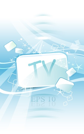 TV abstract background  Stock Vector - 13173835