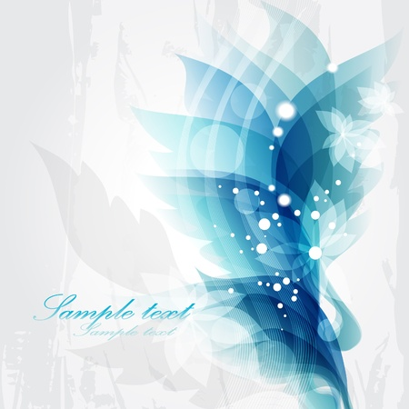 Abstract vintage blue background