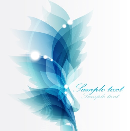 Abstract vintage blue  Vector