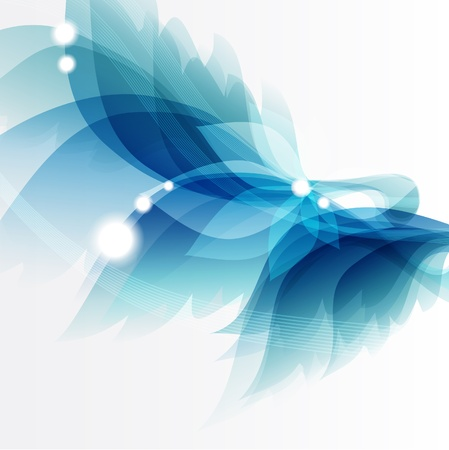 Abstract vintage blue  Illustration