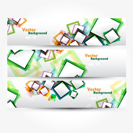 Abstract banner Vectores