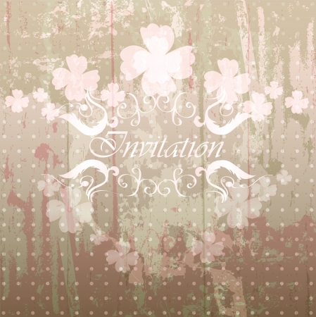 whimsical: Abstract vintage  background
