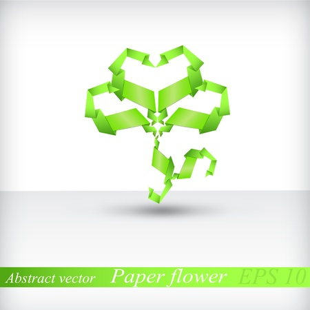 Abstract flower origami vector  Vector