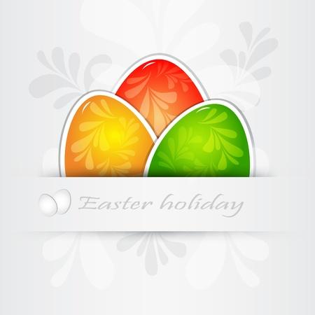 Easter card, vector  Vector