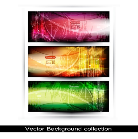 Collection Horizontal Headers Vector