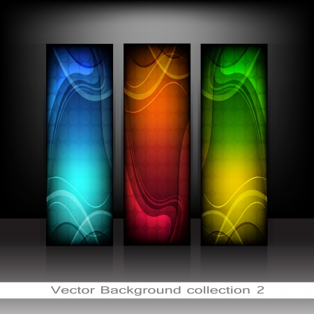 collection vertical Headers  Vector