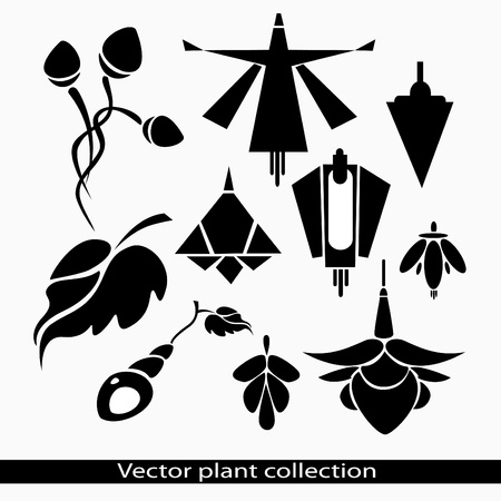 artistic flower: Vector collection