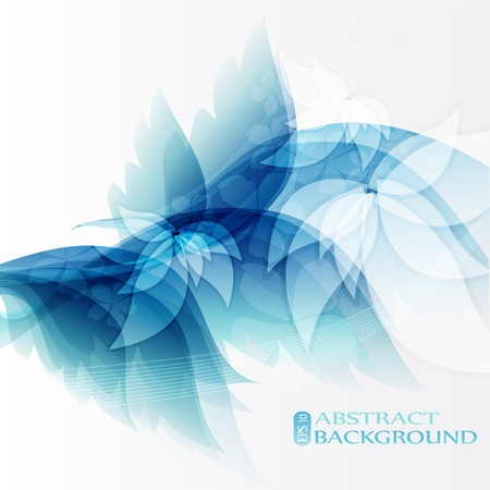 Abstract background blue lights