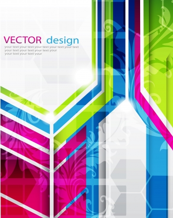 abstract art background Vectores
