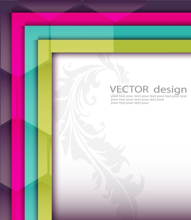 letterhead: Colorful background  Illustration
