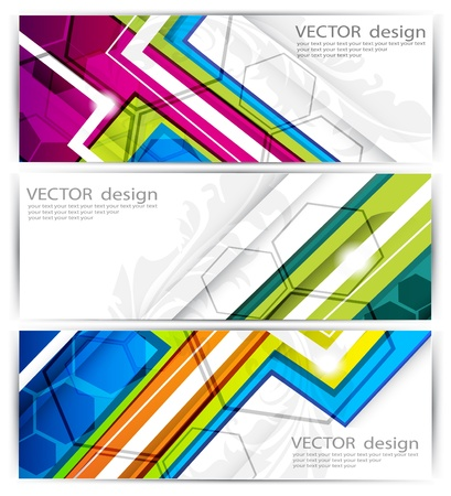 website headers  Stock Vector - 14646003