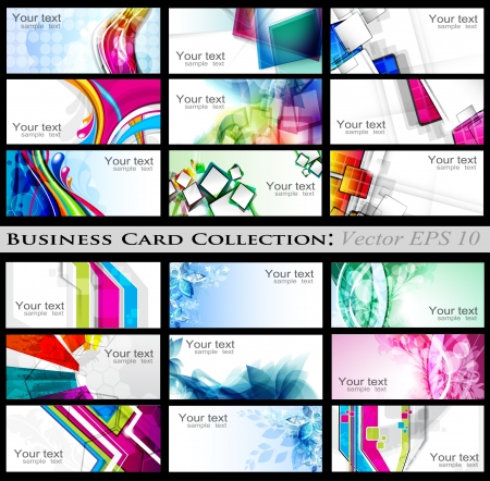 Abstract Business Card Stok Fotoğraf - 15196242