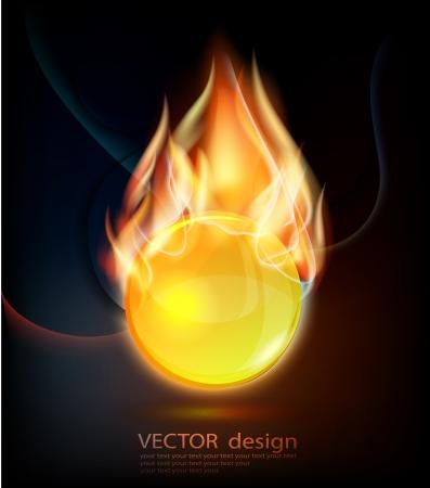 red devil: Burning gold sphere
