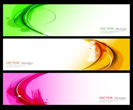 visiting card design: Vector collection Illustration