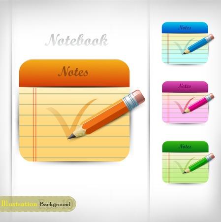 Notebook design Vector