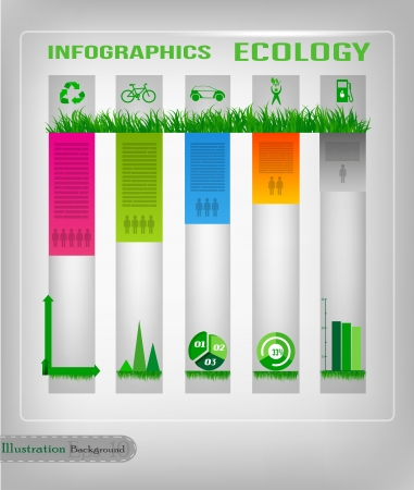 Infographic ecology design Vector