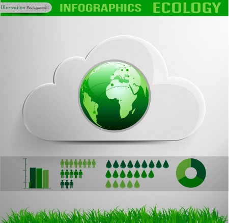 Infographic cloud ecology design Vector