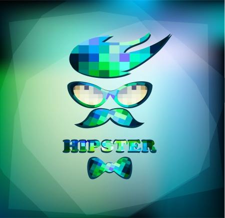 hipster background Illustration