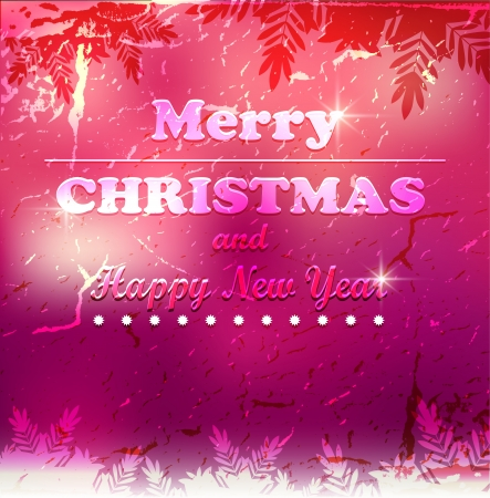 Merry Christmas card Stock Vector - 23061996