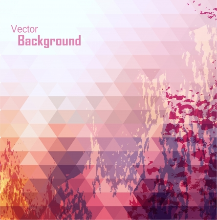 vintage backgrounds: Colorful abstract geometric background set Illustration