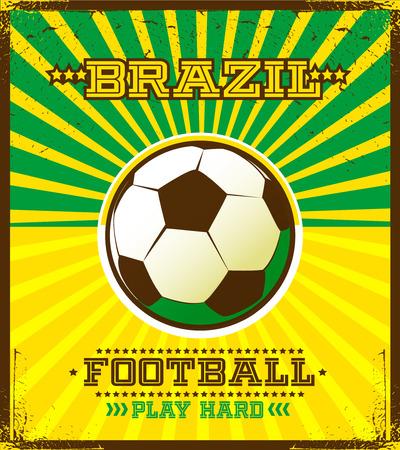 Brazilian football poster  Vector