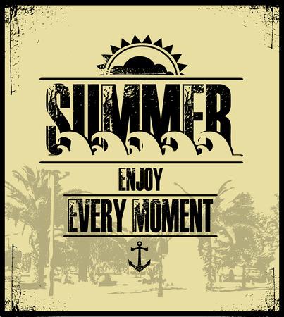 summer holidays: Summer holidays illustration