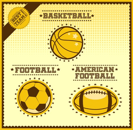 tactics: Sport balls vector set on a light background