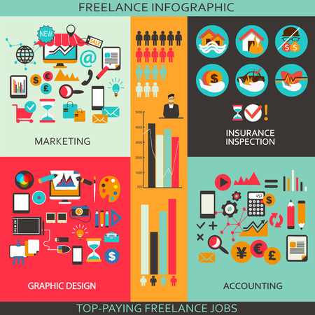 speach: Flat design  Freelance infographic