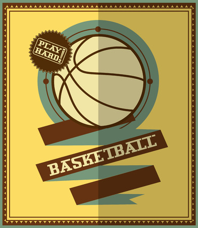 modish: Flat design  Basketball poster