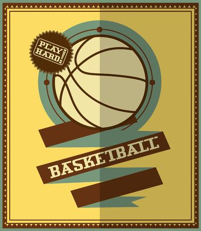 modish: Flat design  Basketball poster