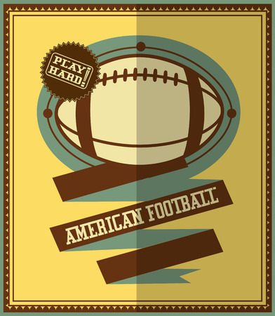 modish: Flat design  American football retro poster  Illustration