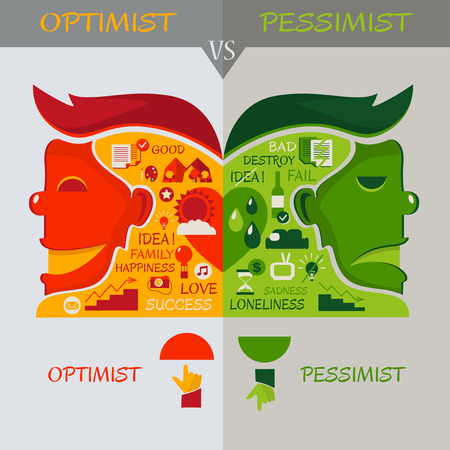 optimist: The difference between optimist and pessimist