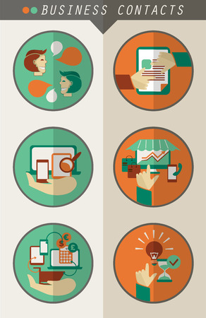 rt: Business contacts infographic.