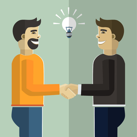 webdesigner: Business handshake.