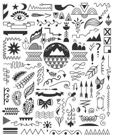 Hand drawn elements. Vector