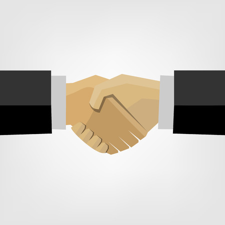 Business handshake. Vector