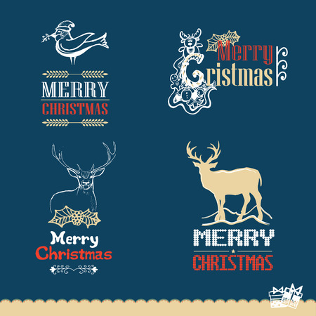 hollies: Collection of Christmas calligraphic and typographic design