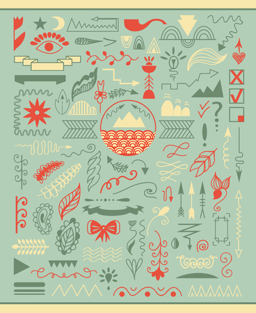 Hand Drawn Christmas elements Vector